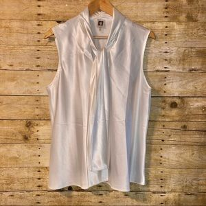 Anne Klein white blouse